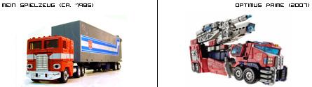 Optimus Prime - Gestern und Heute
