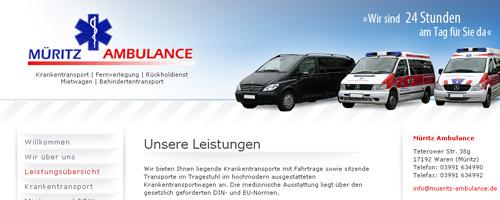 Müritz Ambulance