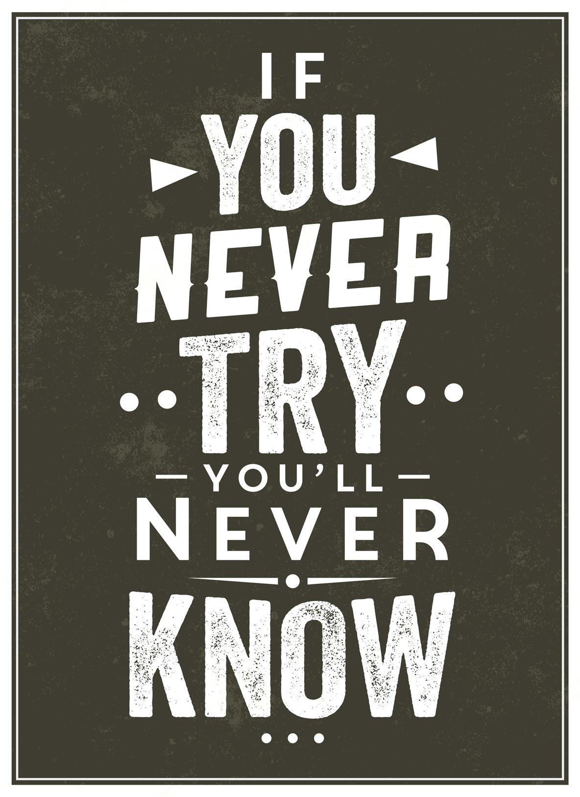 Wenn Du es nicht versuchst, wirst Du es nie erfahren ob es nicht doch geklappt hätte.